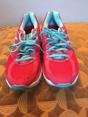 Asics Chaussures à lacets rose-blanc