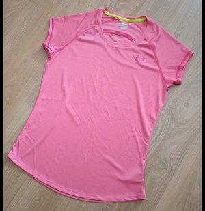 Laufshirt, Under Armour, Neu, Pink, Neon, Gr. 38