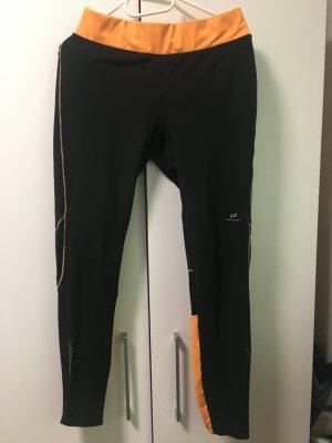 Pantalone termico nero-arancione
