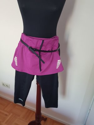 inoc Pantaloncino sport nero-rosa