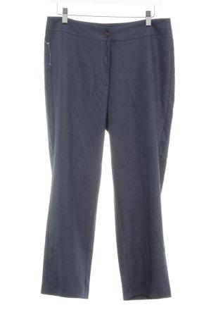 Laura 3/4 Length Trousers dark blue wet-look