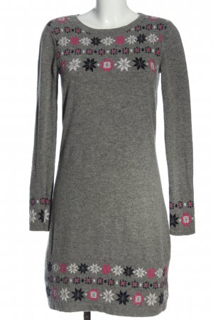 Laura Ashley Sweater Dress light grey-pink graphic pattern casual look