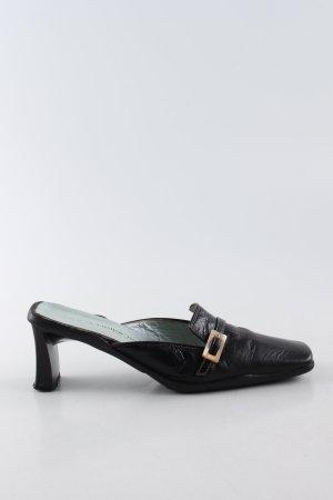 Laura Bellariva Absatz Pantoletten schwarz Business-Look