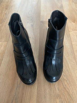 Laura Bellariva Low boot noir cuir