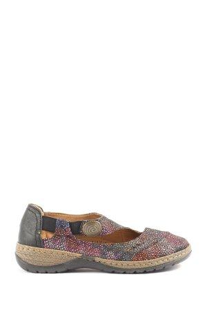 laura berg Zapatos sin cordones estampado a lunares look vintage