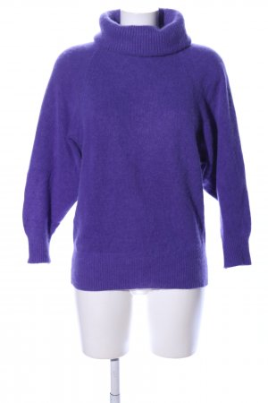 Laura Berlucchi Wollpullover lila Casual-Look