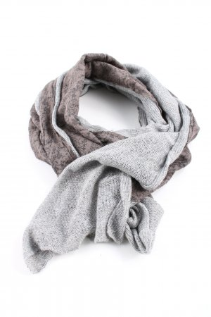 Laura biagiotti Crochet Scarf bronze-colored-light grey flower pattern