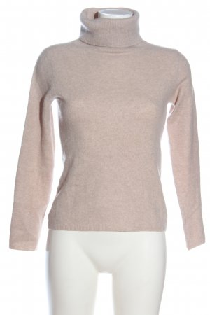 Laura biagiotti Turtleneck Sweater nude flecked casual look