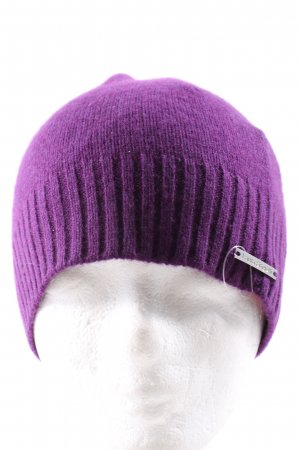 Laura biagiotti Knitted Hat lilac casual look
