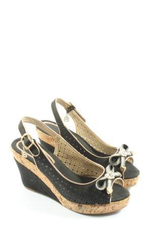 Laura biagiotti Wedges Sandaletten schwarz Elegant
