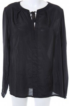 Laura Clement Transparenz-Bluse schwarz Casual-Look