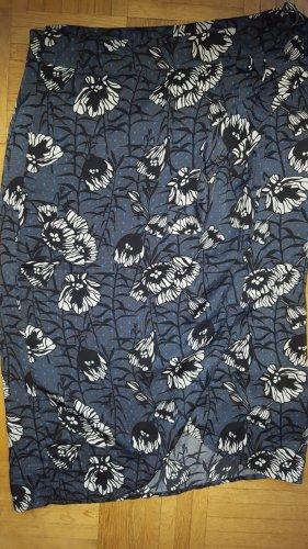 Laura Clement Wickelrock Blumen blau Gr38 *neu*