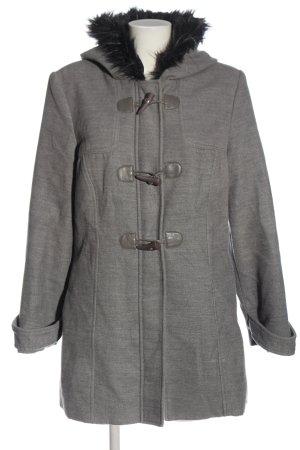 Laura di Sarpi Manteau à capuche gris clair moucheté style décontracté