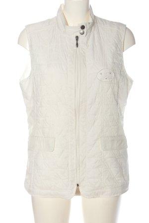 Laura di Sarpi Gilet matelassé blanc motif de courtepointe style décontracté