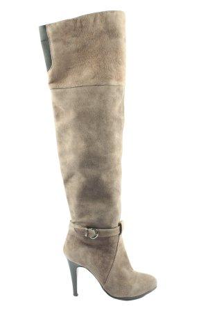 Laura Wysokie buty na obcasie brązowy W stylu casual