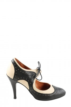Laura Hochfront-Pumps schwarz-creme Casual-Look