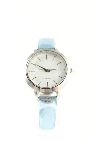 Laura Kent Analoog horloge lichtgrijs-turkoois zakelijke stijl