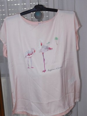 Laura Kent:  Blusenshirt, Flamingo-Druck, Gr. 46