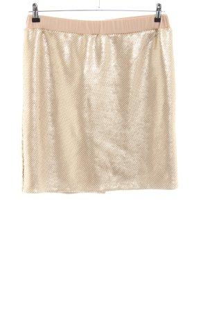 Laura Kent Minirock goldfarben-nude Glanz-Optik