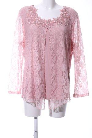 Laura Kent Spitzenbluse pink Blumenmuster Elegant