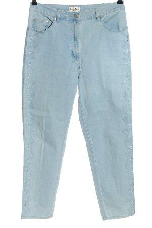 Laura Kent Pantalone jersey blu stile casual