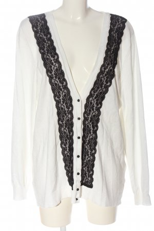 Laura Kent Cardigan in maglia bianco-nero stile casual