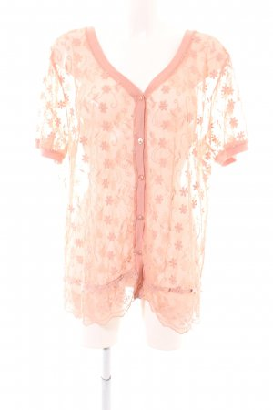 Laura Kent Transparenz-Bluse pink Blumenmuster Casual-Look