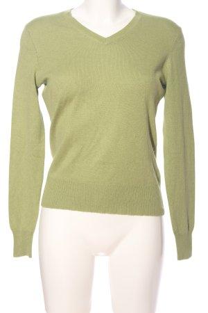 Laura Lardini V-Ausschnitt-Pullover khaki Casual-Look