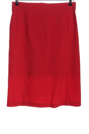 Laura Lebek Falda stretch rojo look casual