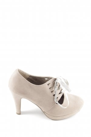 Laura Lenti High Heels wollweiß Casual-Look