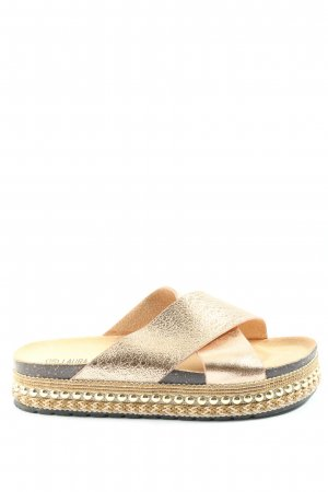 LAURA MODE Heel Pantolettes gold-colored casual look