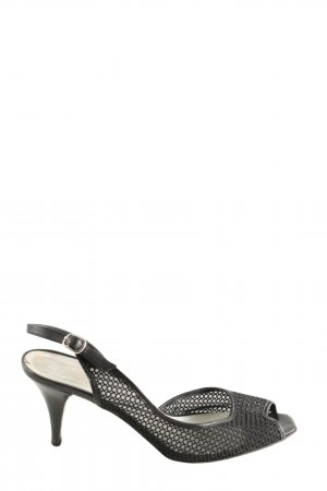 Laura Peeptoe Pumps schwarz Casual-Look