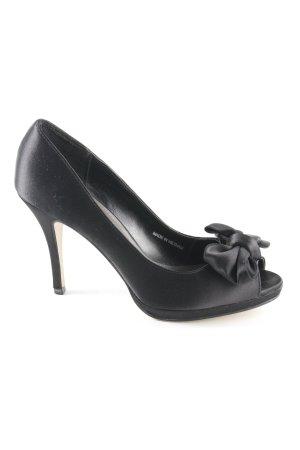 Laura Peeptoe Pumps schwarz Elegant
