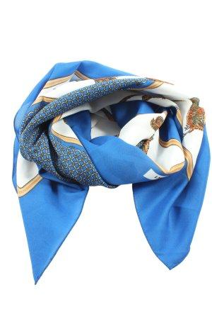 laura pitti Foulard bleu-blanc imprimé avec thème style d'affaires
