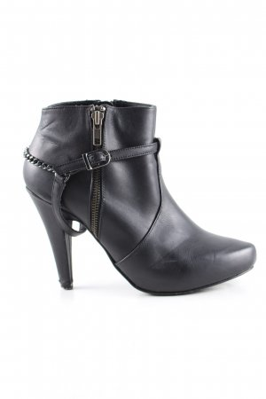 Laura Reißverschluss-Stiefeletten schwarz Casual-Look