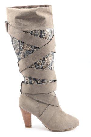 Laura Scott Heel Boots animal pattern elegant