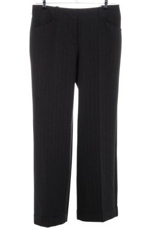 Laura Scott Anzughose schwarz Streifenmuster Business-Look