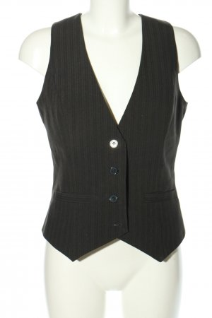 Laura Scott Waistcoat black striped pattern business style