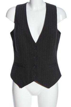 Laura Scott Chaleco de vestir negro estampado a rayas look casual