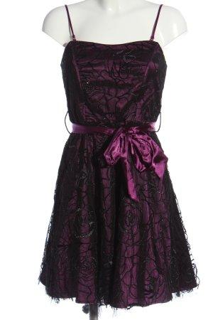 Laura Scott Babydoll-jurk lila-zwart elegant
