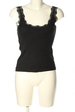 Laura Scott Basic topje zwart casual uitstraling