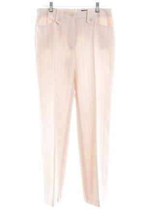 Laura Scott Bundfaltenhose nude Streifenmuster Business-Look