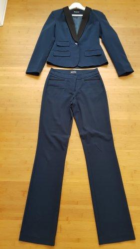 Laura Scott Costume business bleu pétrole tissu mixte