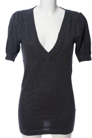 Laura Scott Fine Knitted Cardigan light grey flecked casual look