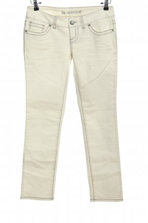 Laura Scott Five-Pocket Trousers white casual look