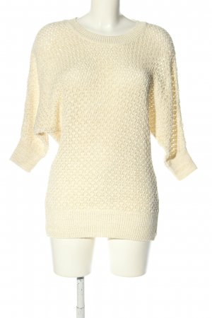 Laura Scott Crochet Shirt natural white casual look