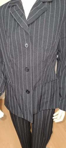 Laura Scott Pinstripe Suit black