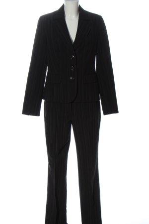 Laura Scott Trouser Suit black striped pattern business style