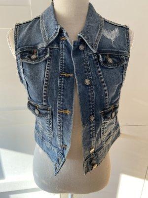 Laura Scott Gilet en jean multicolore coton