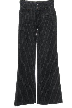 Laura Scott Jeansowe spodnie dzwony czarny Wzór w paski W stylu casual